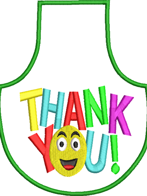 Thank you 2 Bottle Apron - (4x4)