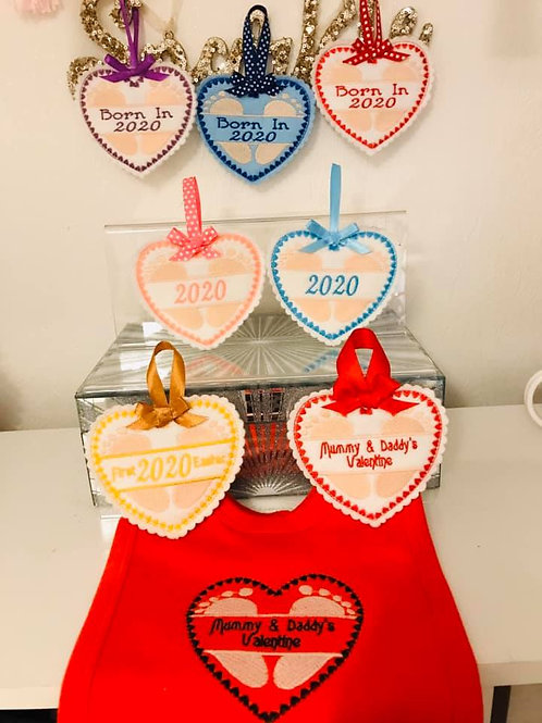 Baby Hanging Hearts Set 1