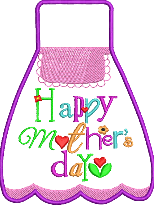 Mother's Day Bottle Apron - (4x4)