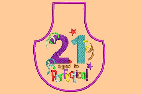 21 Age Bottle Aprons - (5x7)