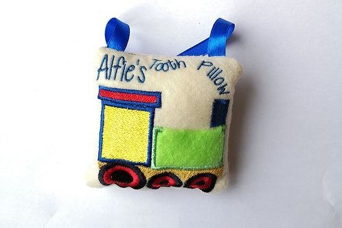 Train Tooth Fairy Pillow - (4x4)