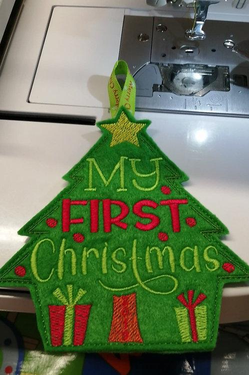 Hanging First Christmas Tree - (4x4 & 5x7)