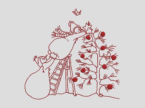 Snowmen On Ladder