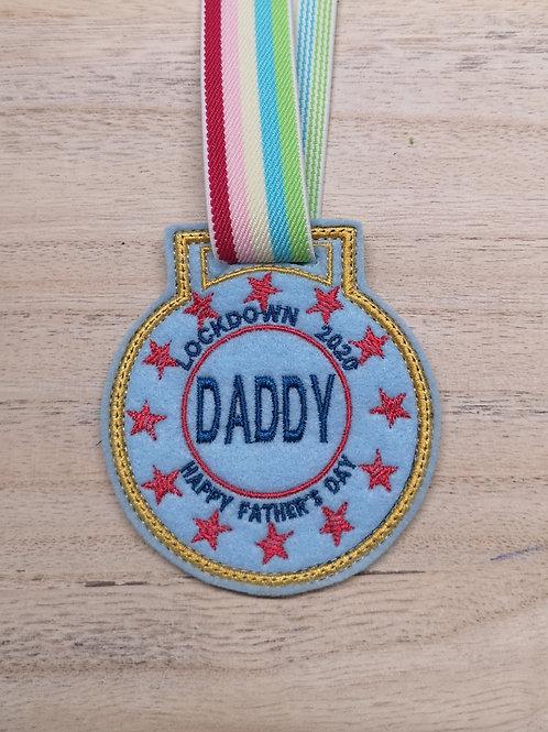 FathersDayLockdownMedal 3x3.4x4.5x7