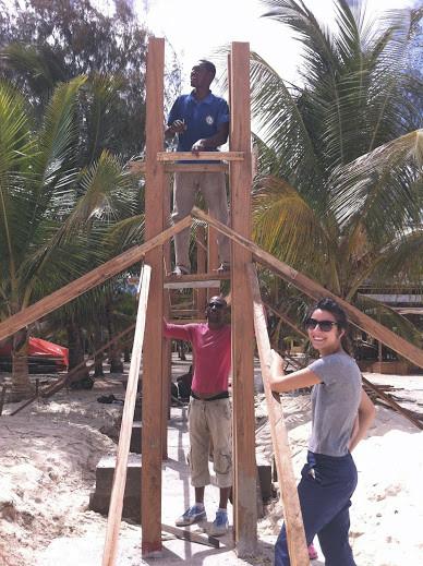 Constructing a beach bar