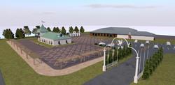 Эскиз выставочной площадки в Суздале