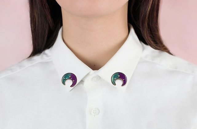 Bijoux de col lune multicolore