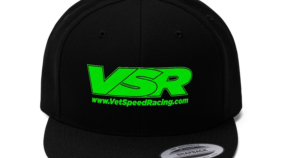 Vet Speed Racing Black Unisex Twill Hat
