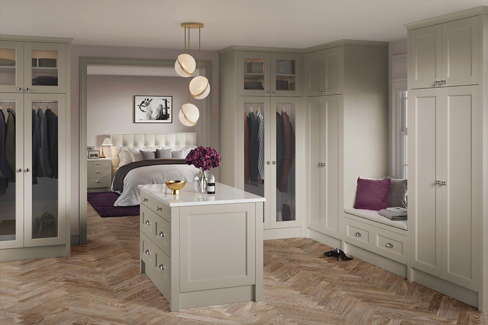 Bastile Legno light grey bedroom