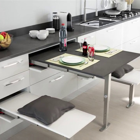 So you have no room for a table in your kitchen. Think again!