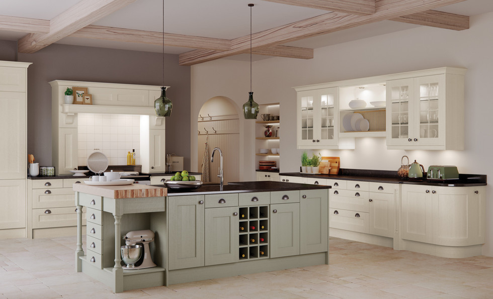 Wakefield Painted Ivory Sage Green
