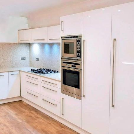 High gloss white kitchen