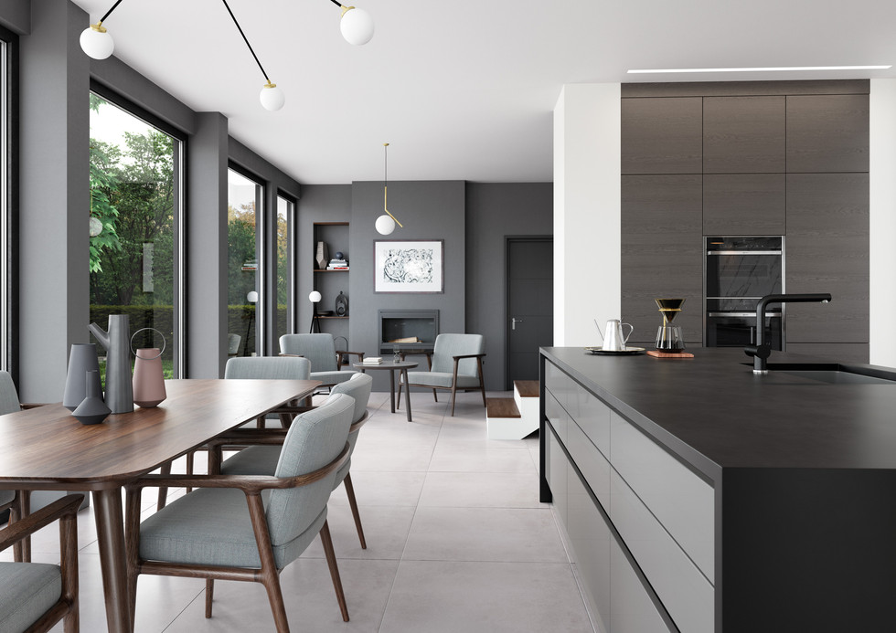 Zola Gloss Dust Grey and Tavola Anthracite