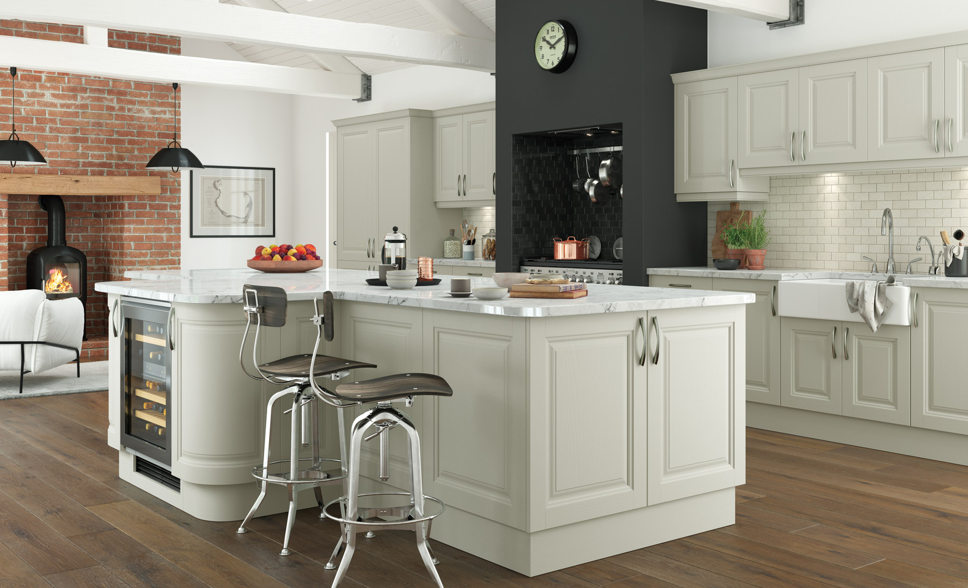 Jefferson Kitchen Painted in Mussel