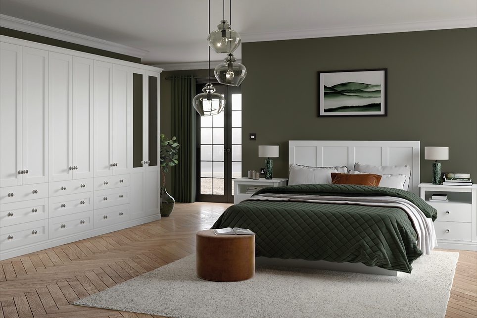 Loxley white grey bedroom