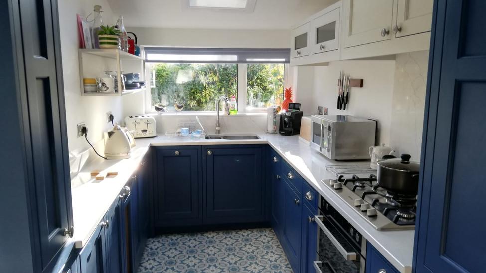 Parisian Blue Painted Kitchen