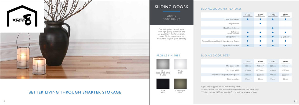 Sliding wardrobe door brochure 2