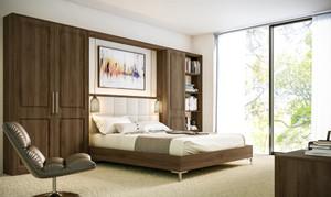Natural walnut bedroom