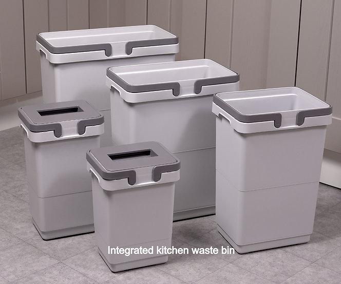 integrated kitchen waste bins