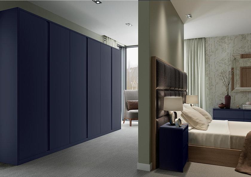 Matt quay blue bedroom