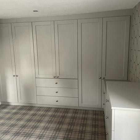 Bastille legno light grey bedroom in Aldcliffe, Lancaster. Dec 2020.