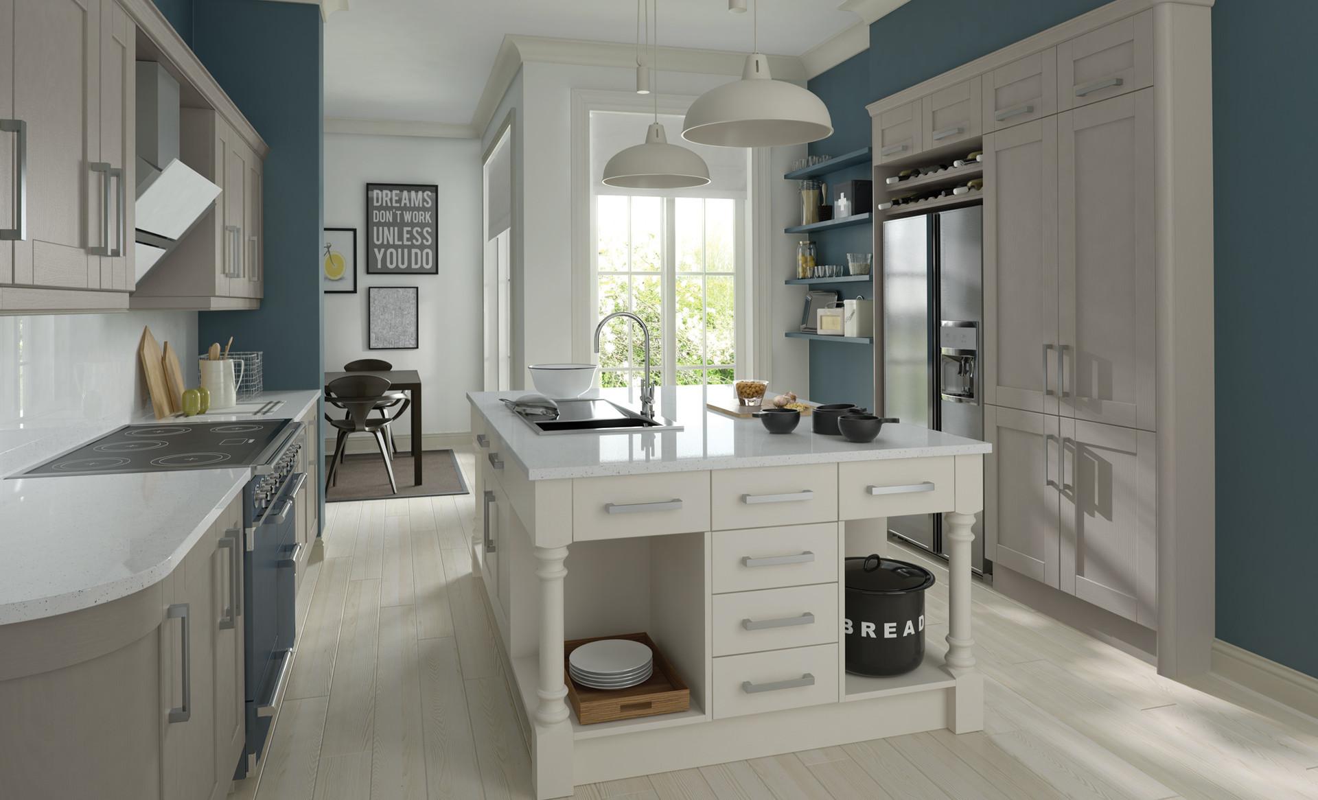 Madison Painted Stone Brilliant White Kitchen