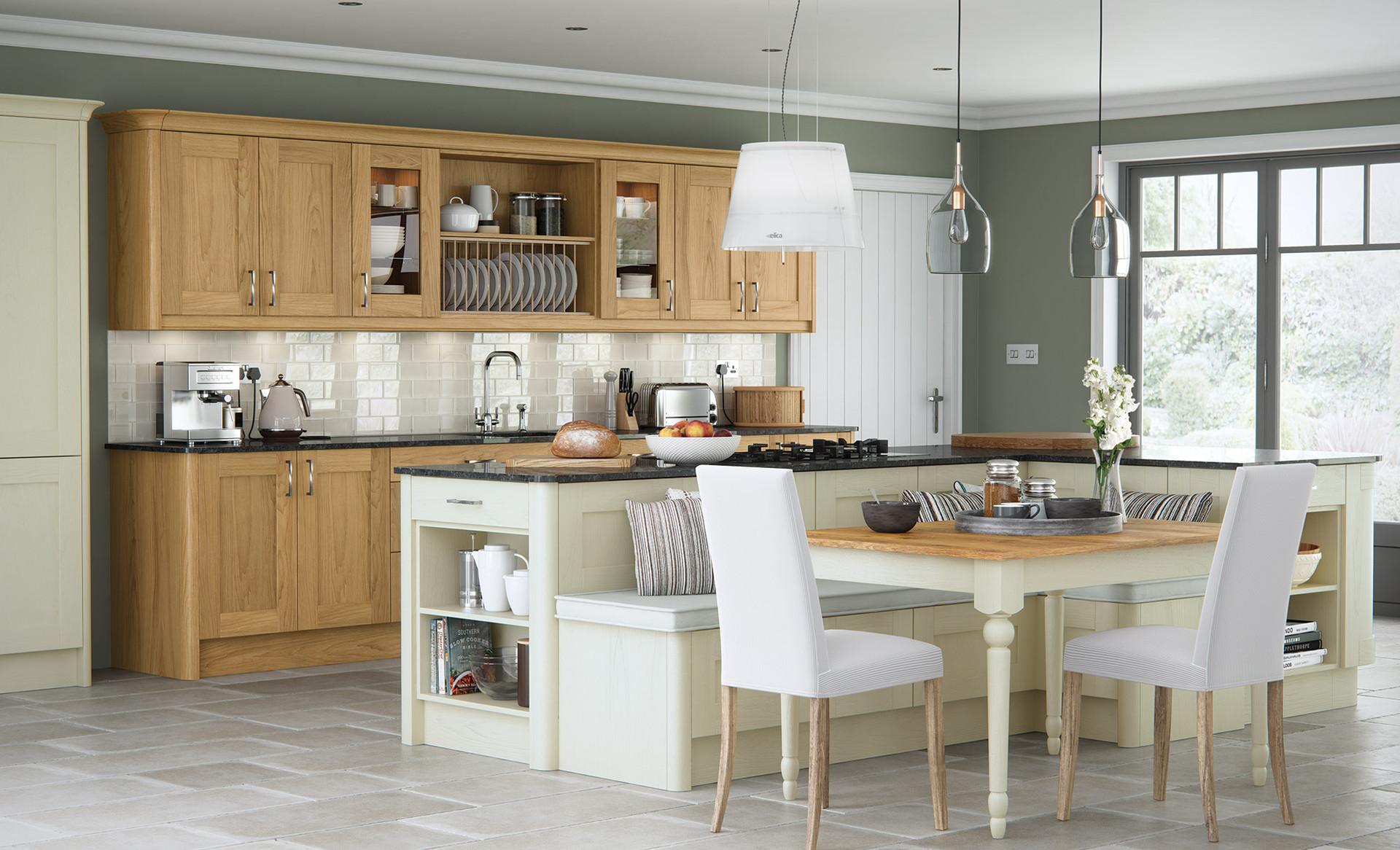 Madison Oak Painted Ivory Kitchen