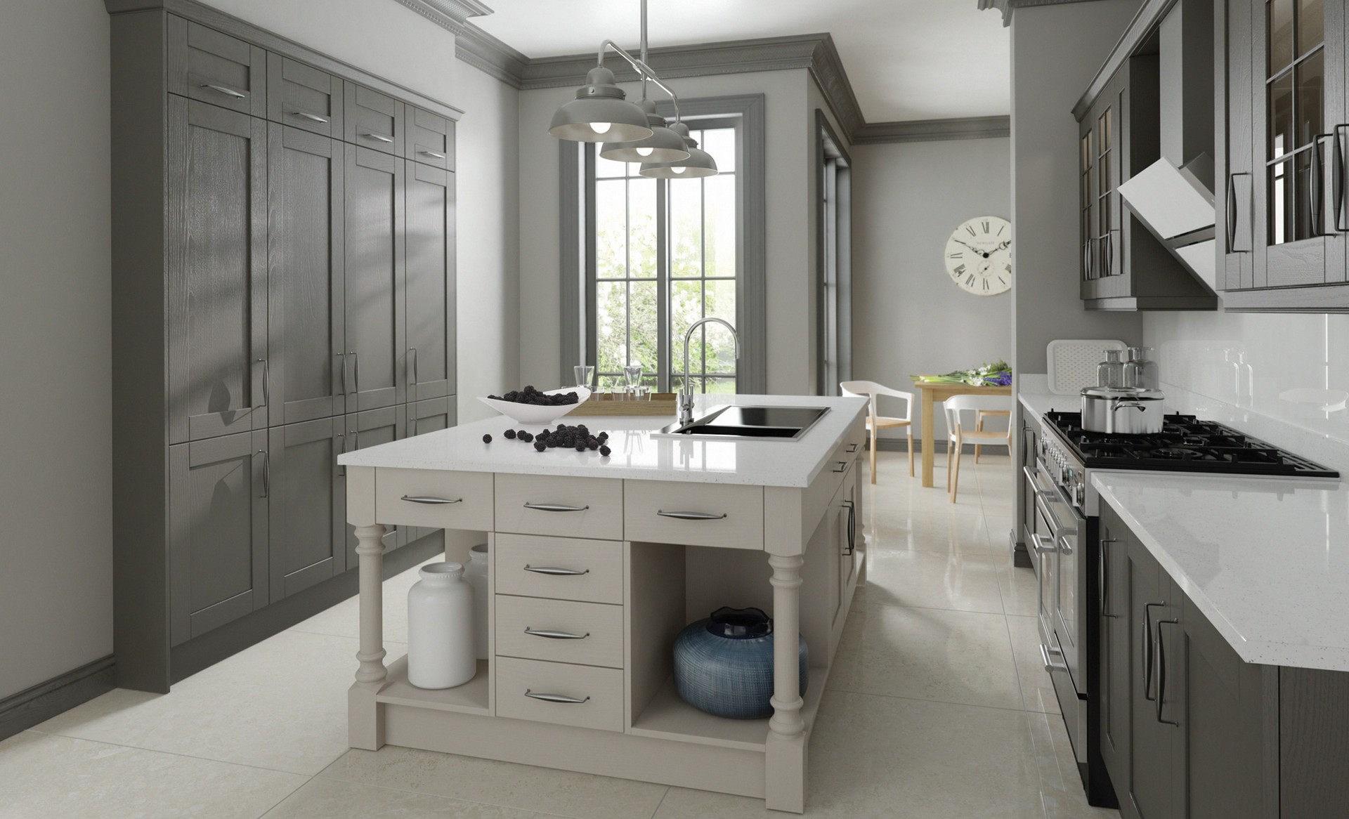 Madison Painted Lava Light Grey Kitchen