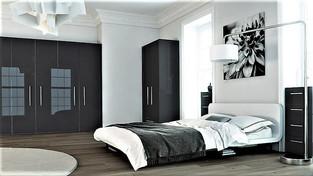 Ultragloss metallic anthracite bedroom
