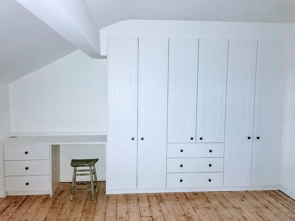 White Tullymore fitted bedroom in Lancaster
