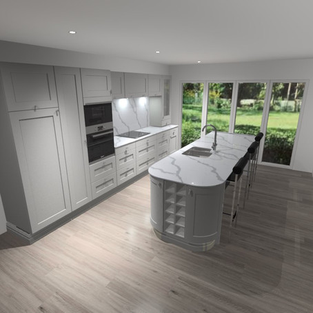 Bastile Taupe kitchen design. Morecambe.