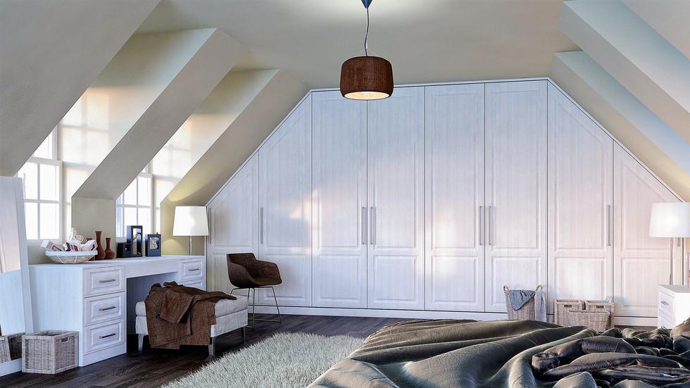 Opengrain White Angled Wardrobes