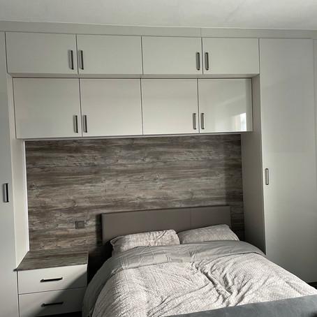 Light grey gloss bedroom in Morecambe, Lancashire.