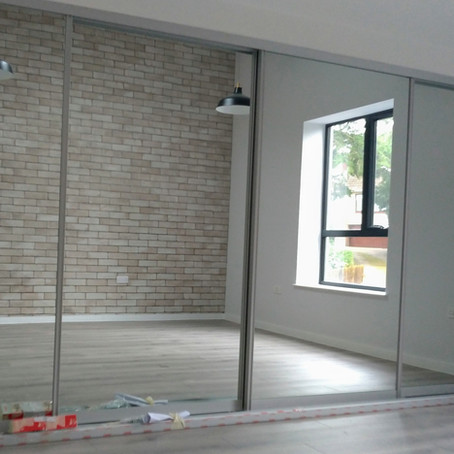 Silver Mirror Sliding Wardrobe Doors in Lancaster