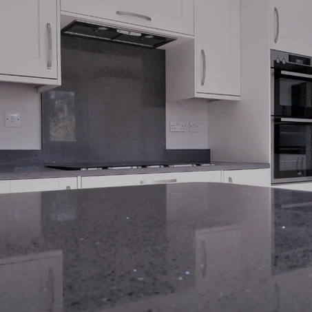 Grey Mirror Quartz Worktop in Heysham