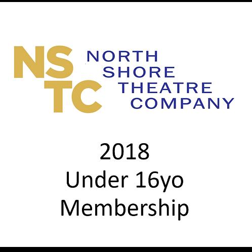 2018 Membership - Under 16yo