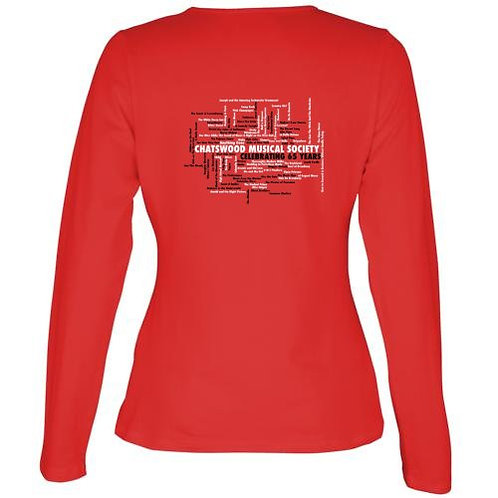 Ladies 65th Anniversary T-Shirt (Black or Red)