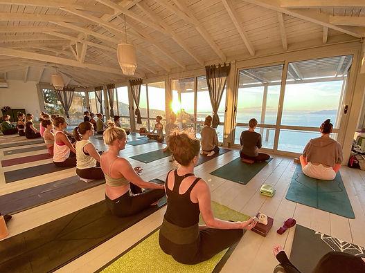 summer yoga retreat Greek islands