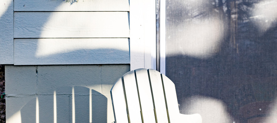 Sunning on the Hut Porch