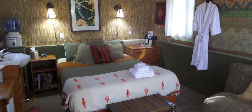 Bedroom with Bathrobe & Heart Print.JPG