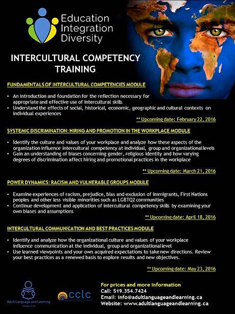Adult Language and Learning Intercultural Diversity Training Descriptors 2016