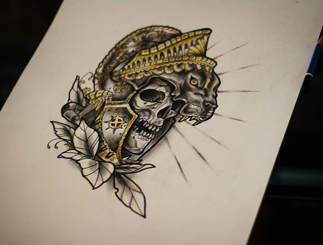 Undead king #drawing #tattoo #neotraditi