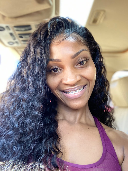 Transparent Water Wave 13x6 Frontal Lace Wig 150% Density