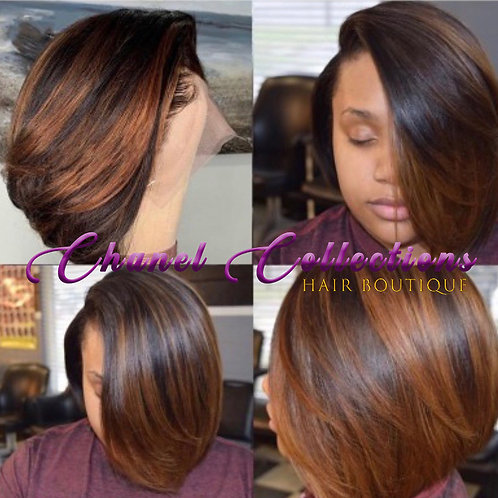 Ombre 1B/8 Lace Frontal Bob