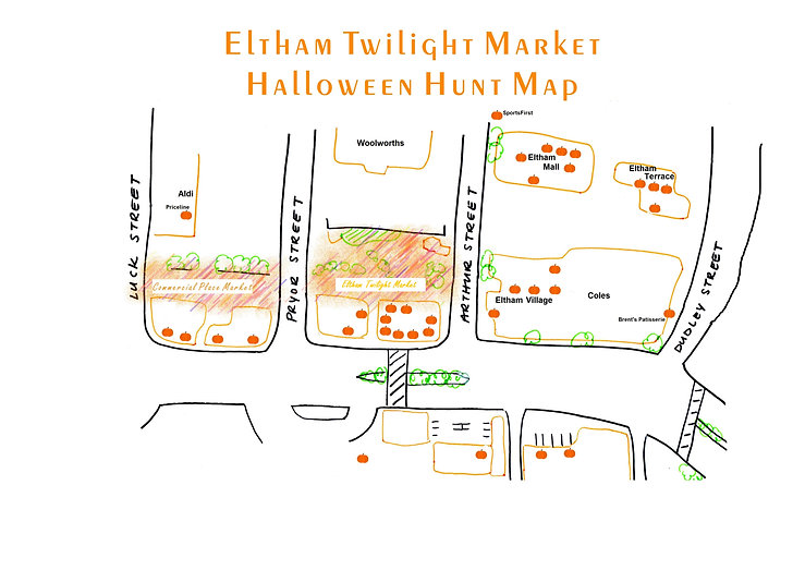 Map of Eltham halloween hunt 24 oct 19.j