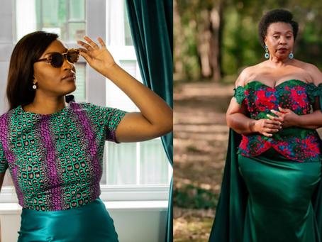 L'ensemble jupe et top Yvonne dénommé ainsi en l'honneur d'Yvonne Chaka Chaka