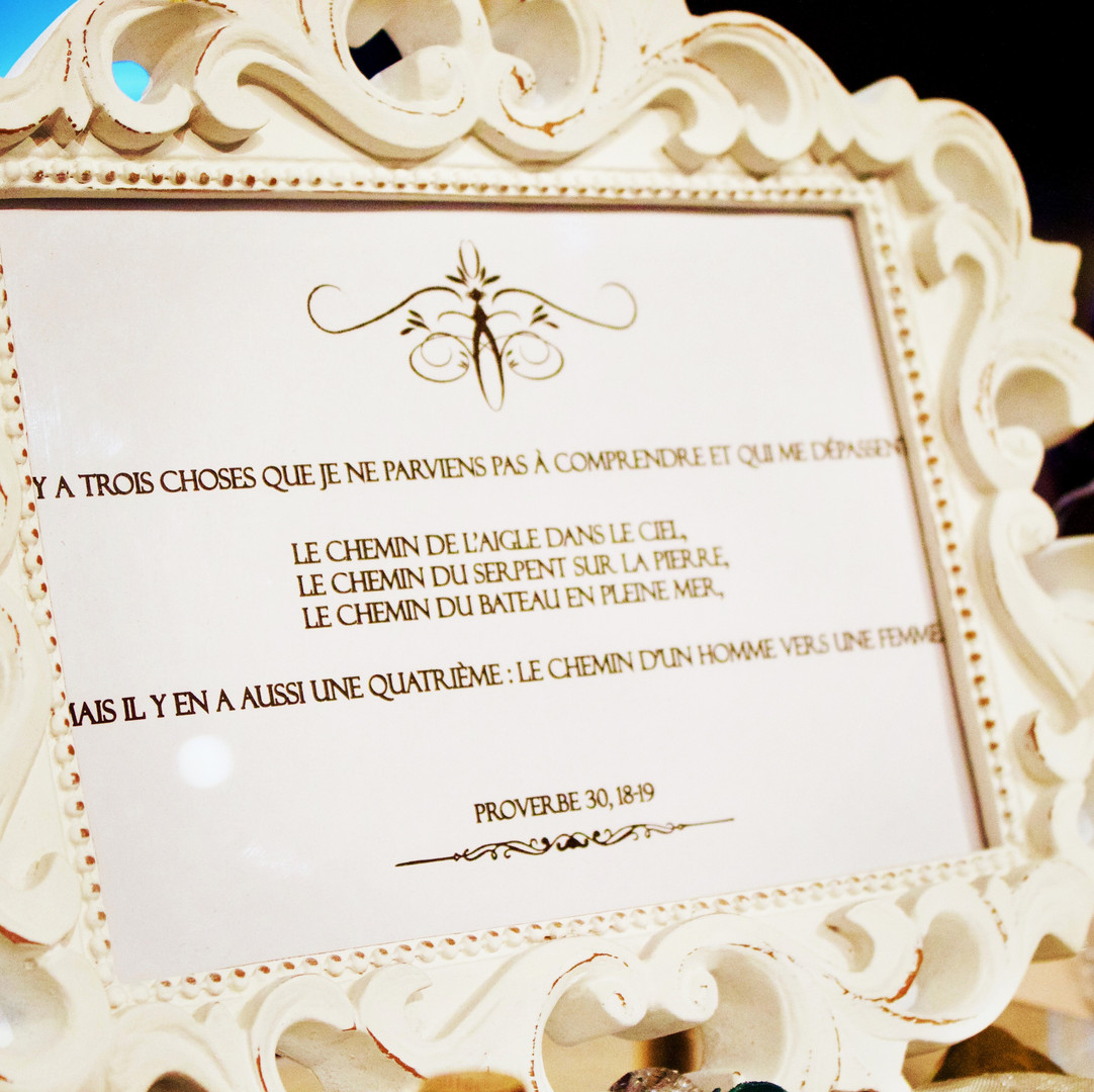 Altar decoration : frame with bible verse