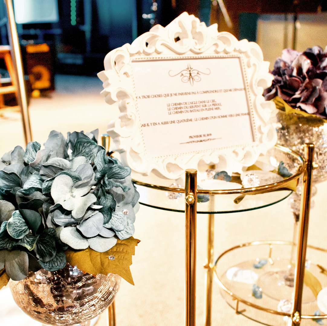 Flower cups and vintage frame