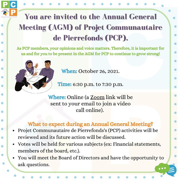 Annual General Meeting (AGM) / Assemblée générale annuelle (AGA)