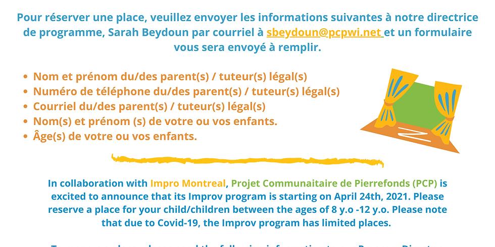 Impro Montréal + PCP: Programme D'Impro / Improv Program